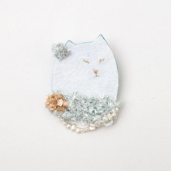 おめかし猫の貴婦人ブローチ004号(受注生産)【送料無料】