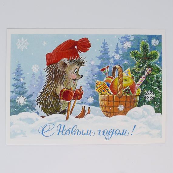 ソビエト ザルビン ポストカード ハリネズミ
