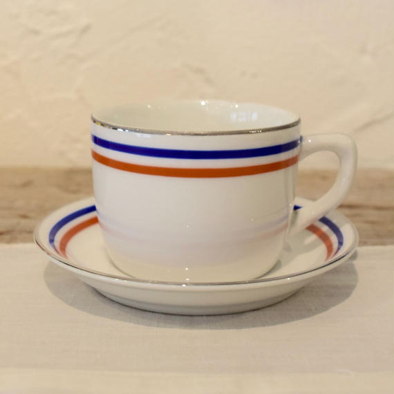 チェコ トリコロール コーヒーカップ&ソーサー