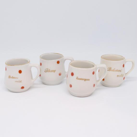 ハンガリー 水玉 ミニチュアマグカップ