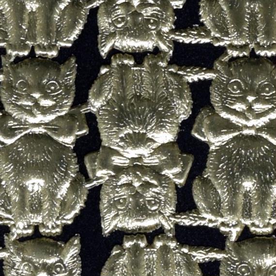 ドイツ ドレスデン ペーパー 猫 ゴールド 4セット