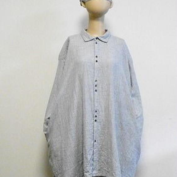 オーガニックトップ糸ダブルガーゼのビッグシャツ