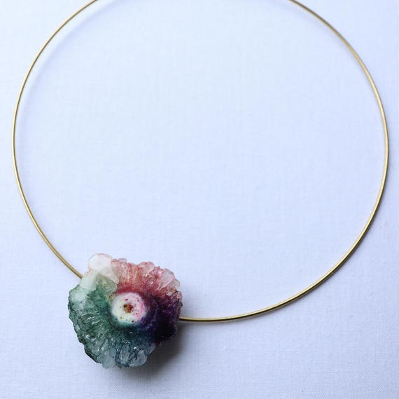 Choker necklace gold/rainbow