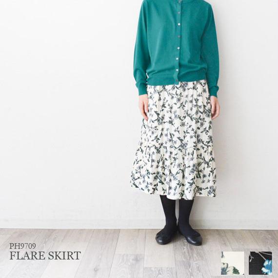 花柄プリント・ティアードスカート(PH9709)