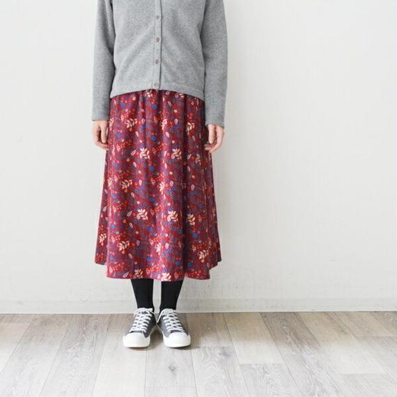 リーフ柄・ピエラ・スカート(724229)通常価格¥12,960