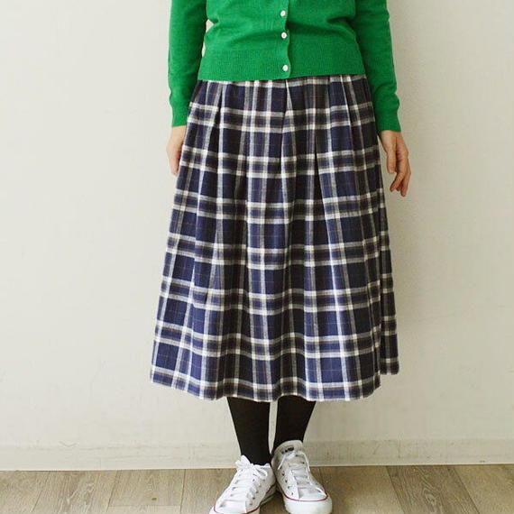 タータンチェック・裏起毛・ギャザースカート(724236)通常価格¥12,960