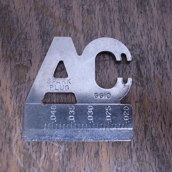 Vintage AC SPARK PLUG GAP GAUGE :GG10