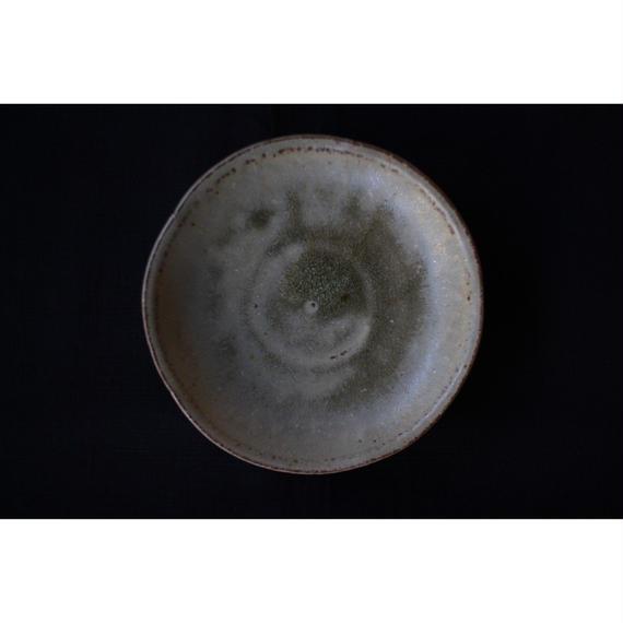 緑灰釉輪花5寸皿 井上茂