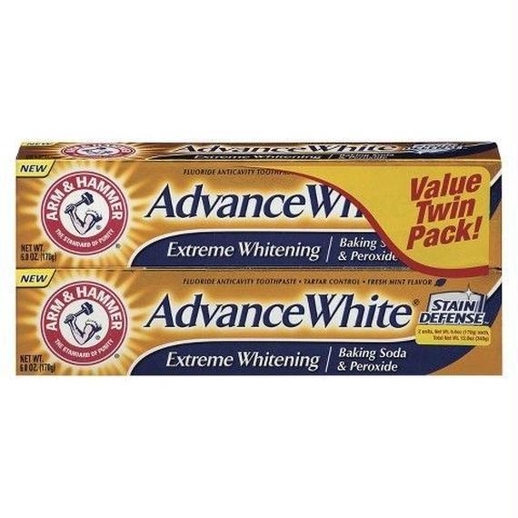 送料無料 アーム&ハンマー 歯磨き粉 アドバンス エクストリーム ホワイトニング ベーキングソーダ 170g x 2個 アームアンドハンマー Arm & Hammer 14449891