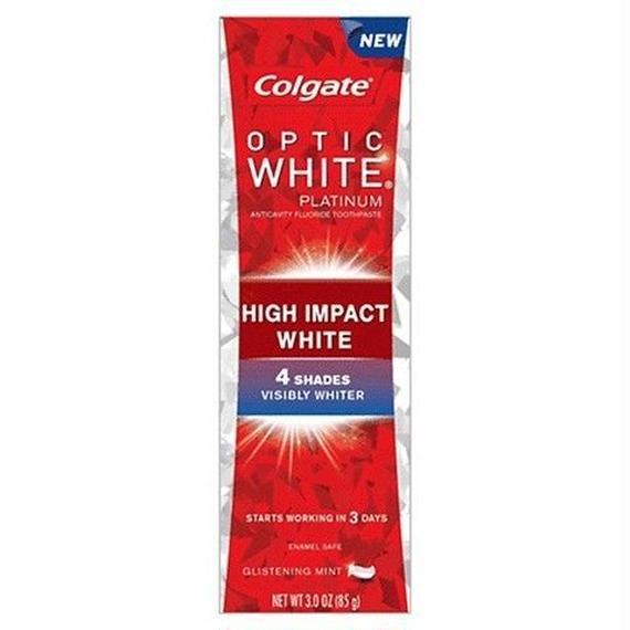 コルゲート Colgate オプティックホワイト プラチナム ハイインパクト 歯磨き粉 85g 49111284