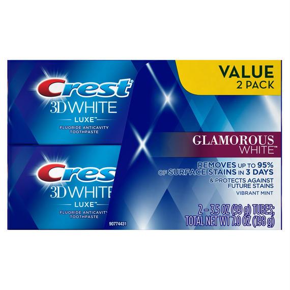クレスト 歯磨き粉 グラマラスホワイト 3D ホワイト ルークス 99g x 2個 Crest 15885563
