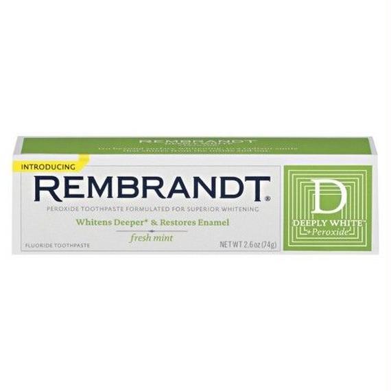 レンブラント Rembrandt ディープリーホワイト ペルオキシド フラロイド 歯磨き粉 フレッシュミント 74g 15432963