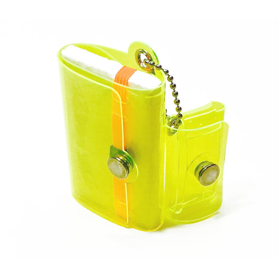 Minimal Wallet '' POCKET PAL ''   CLEAR YELLOW