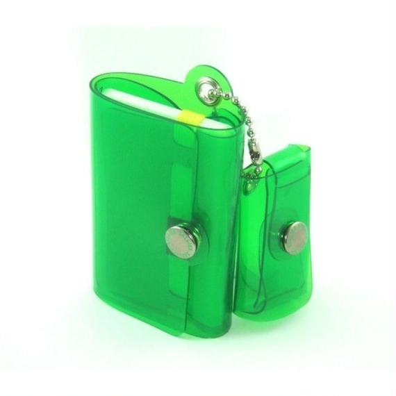 Minimal Wallet '' POCKET PAL ''   CLEAR GREEN