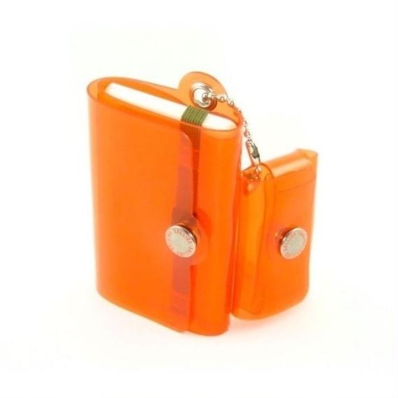 Minimal Wallet '' POCKET PAL ''   CLEAR ORANGE