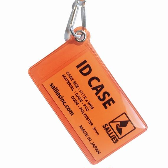 """ID Case ""  CLEAR  ORANGE"