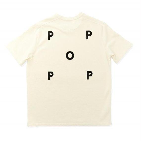 POP LOGO T-SHIRT PIQUE OFF WHITE