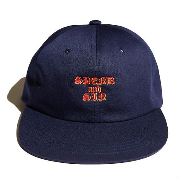 Hellrazor Spend and Sin 6 Panel Cap - Navy