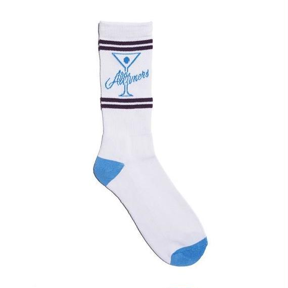 ALLTIMERS LEAGUE PLAYER SOCK WHITE/BLUE/PURPLE