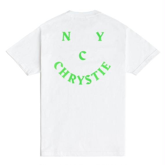 CHRYSTIE NYC SMILE LOGO T-SHIRT / WHITE