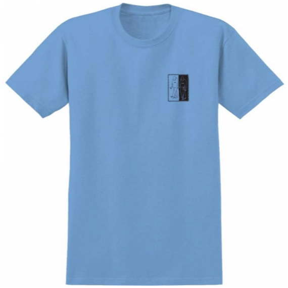 KROOKED LOVE & HATE T-SHIRT CAROLINA BLUE