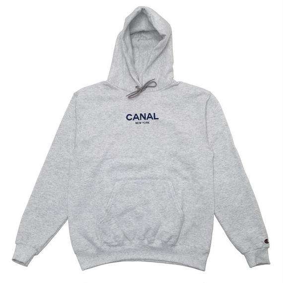 """CANAL """"CLASSIC LOGO"""" CHAMPION HOODIE - HEATHER WHITE"""