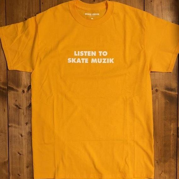 SKATE MUZIK Listen to skate muzik T-shirts Yellow