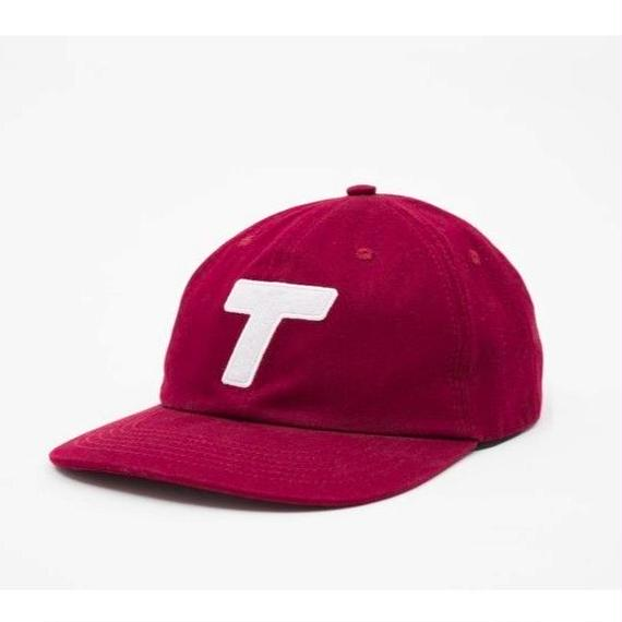 Theobalds Cap Co. Classic Six Panel Wine / White