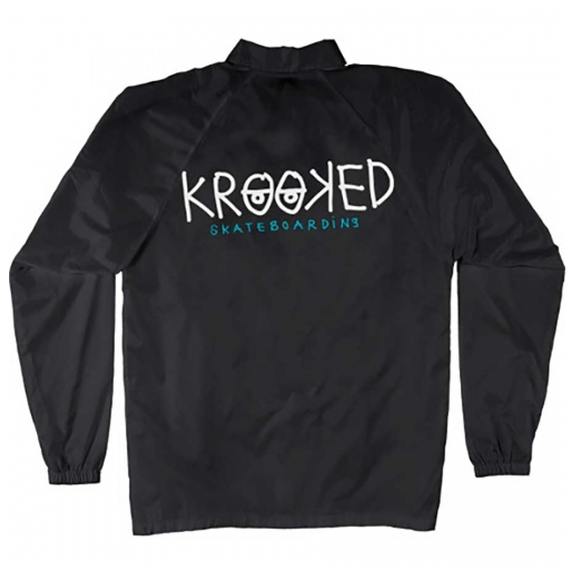 KROOKED EYES COACHES JACKET BLACK/BLUE