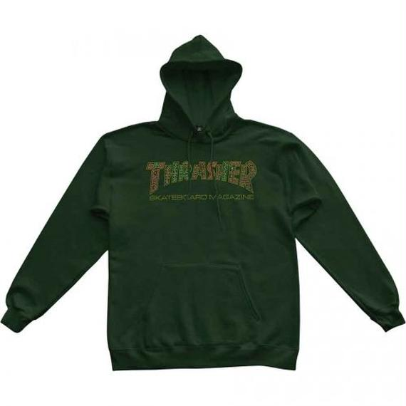 Thrasher Davis Pullover Hoody  Forest Green