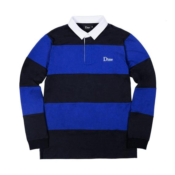 DIME STRIPED RUGBY SHIRT NAVY & ROYAL