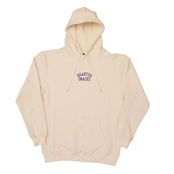 QUARTER SNACKS Embroidered Arch Hoody — Cream