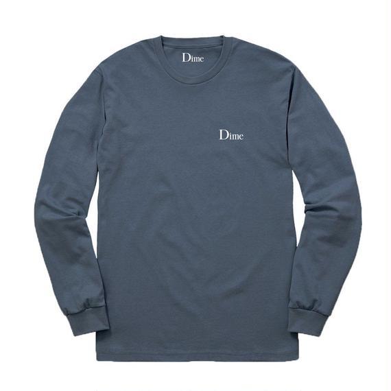 DIME CLASSIC LOGO LONGSLEEVE T-SHIRT STONE BLUE