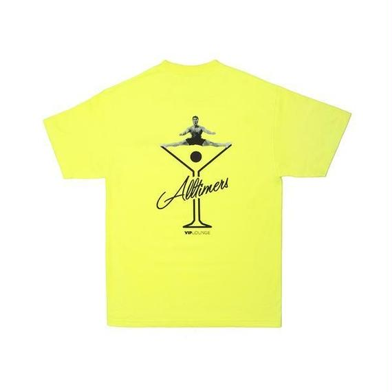 ALLTIMERS SPLITS LOGO TEE SAFETY GREEN