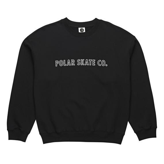 POLAR SKATE CO. OUTLINE CREWNECK Black