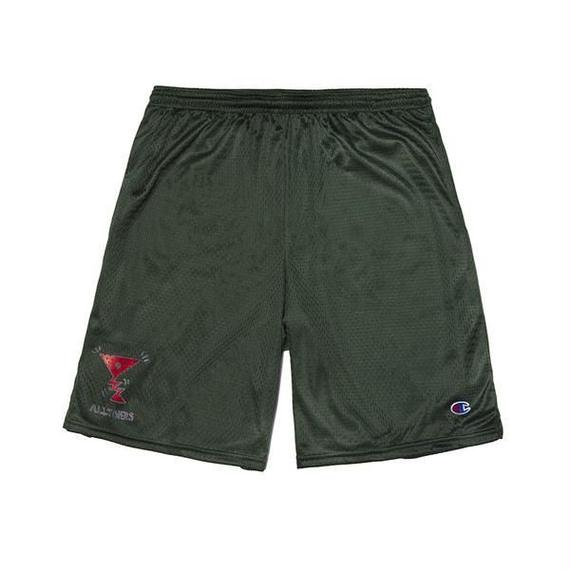 ALLTIMERS ACTION LOGO SHORTS FOREST GREEN