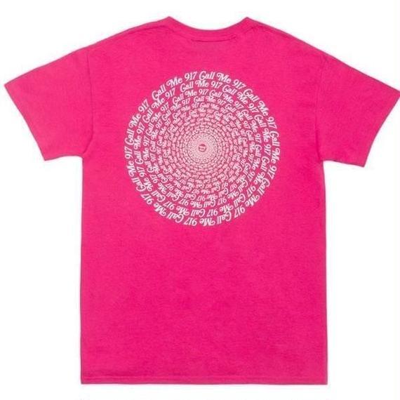 CALL ME 917 Hypnotic Tee Pink