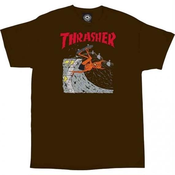 Thrasher Neckface Invert T-Shirt  Brown