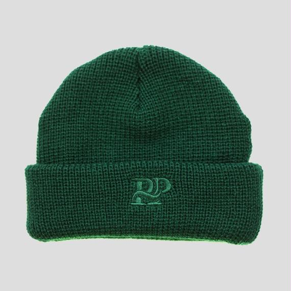 """PASS~PORT """"P~P WORKS"""" BEANIE FOREST GREEN"""