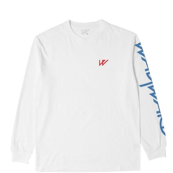 WAYWARD LONDON 'WAYSLEEEK' Long sleeve T-Shirt. White
