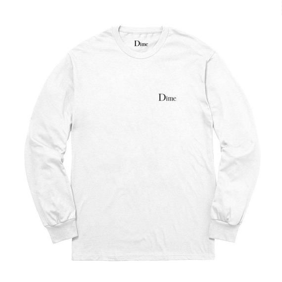 DIME CLASSIC LOGO LONGSLEEVE T-SHIRT WHITE