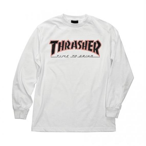 Indy X Thrasher Time To Grind Long Sleeve T-Shirt  White