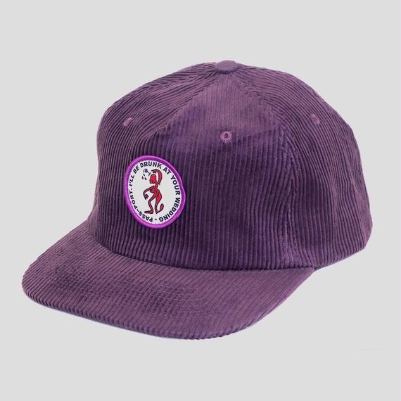 """PASS~PORT """"D.A.Y.W"""" CORD CAP PURPLE"""