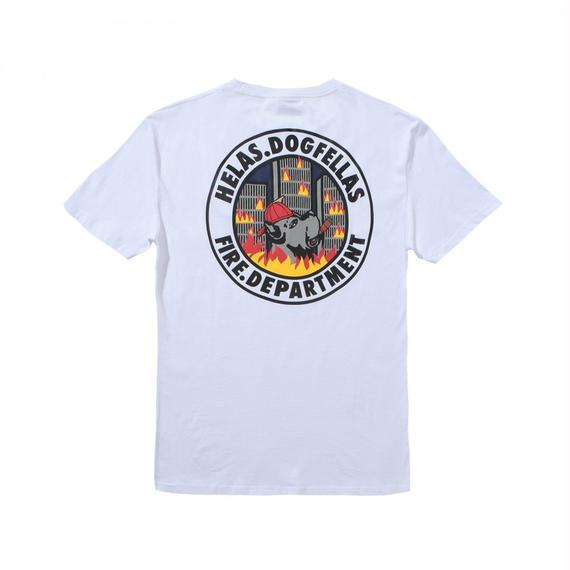HELAS FIRE DEPT TEE WHITE