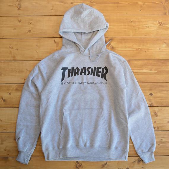 THRASHER SKATE MAG HOOD - GREY