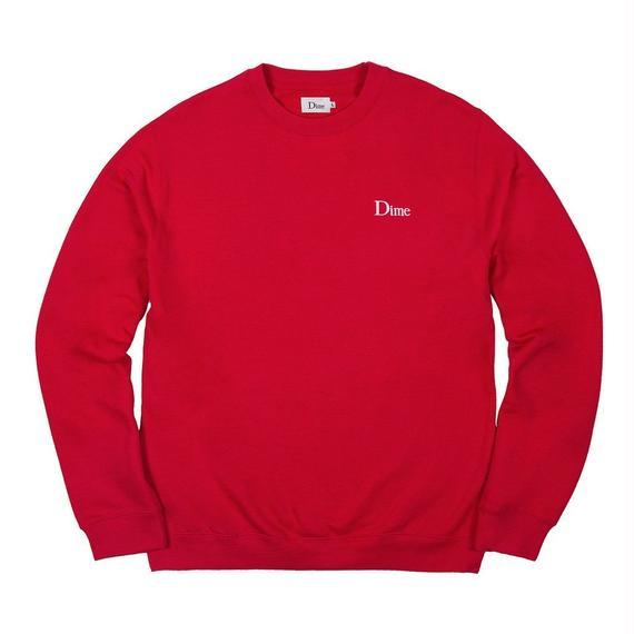 DIME CLASSIC LOGO CREWNECK RED