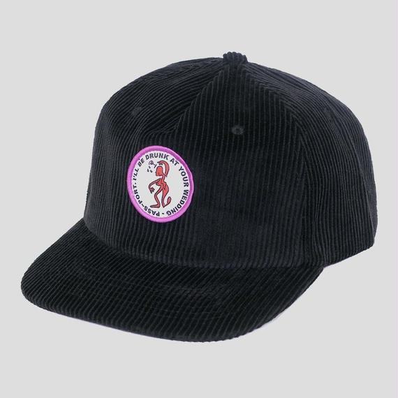 """PASS~PORT """"D.A.Y.W"""" CORD CAP BLACK"""
