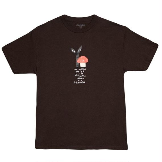 """Stingwater BROWN T-SHIRT """"GROE TOGETHER: RED CAP"""""""