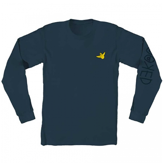 KROOKED OG BIRD EMBROIDERED PREMIUM LONGSLEEVE T-SHIRT HARBOR BLUE