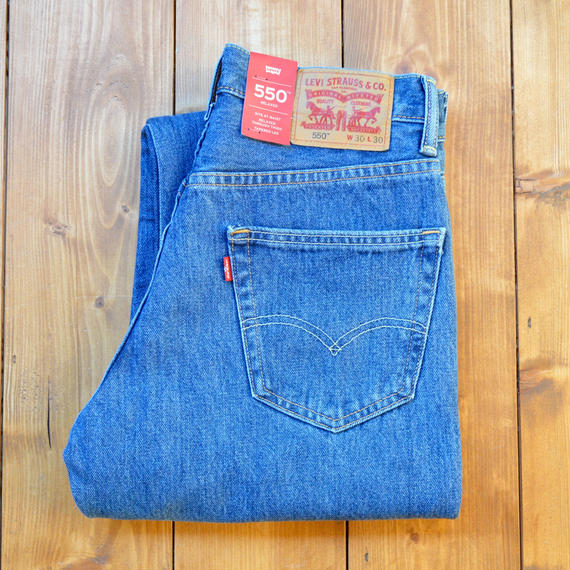 LEVI'S 550 RELAXED FIT JEANS MEDIUM STONE WASH
